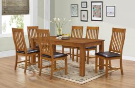 Adderley Dining Set with 6 Chairs Walnut
