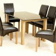Adina Black Dining Set Large 6 Cyprus Chairs