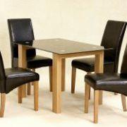 Adina Black Dining Set Small 4 Cyprus Chairs