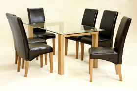 Adina Dining Set Large Oak 6 Cyprus Chairs