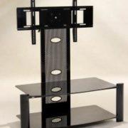 Alpine Flat Screen TV Stand Black (Baron)