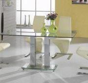 Ankara Large Dining Set Chrome 4 Ankara Chairs