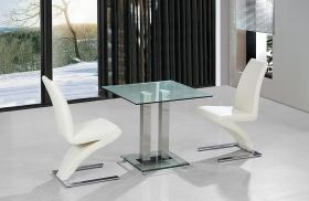 Ankara Small Dining Set Chrome 2 Ankara Chairs