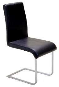 Aspen Chair Black PVC & Silver