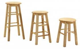 Bar Stool 24 Non Swivel (Sold in Pairs)""