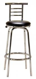 Bar Stool Chrome Swivel Narrow Back BM-015P