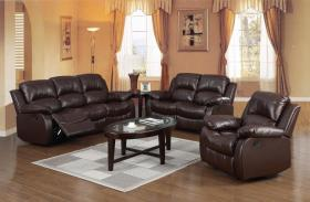 Carlino Recliner Full Bonded Leather 1 Seater Brown
