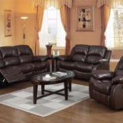 Carlino Recliner Full Bonded Leather 3 Seater Brown