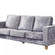 Chesterfield 3 Seater Sofa Crushed Velvet Silver