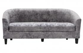 Claridon 3 Seater Sofa Crushed Velvet Silver