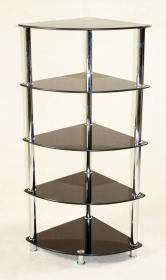 Cologne Black Corner Unit 5 Shelves