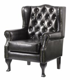 Dorchester PU Arm Chair Black