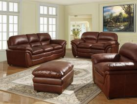 Fernando Sofa Full Bonded Leather 1 Seater Brown