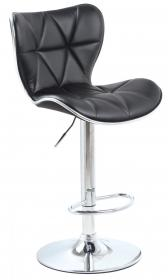 Harlow Bar Stool PU Chrome & Black (2s)