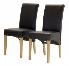 Havana PU Chair with Oak Legs