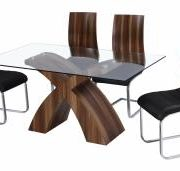 Holte Bentwood Chair Chrome & Black with PU Seat Pad