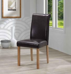 Jasper PU Solid Rubberwood Chair