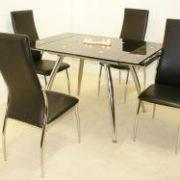 Magna Extending Table Black & Chrome