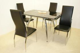 Magna Extending Table Black & Chrome