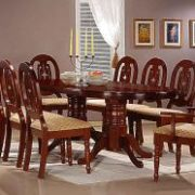 Moscow Dining Set with 6 Side & 2 Arm Chairs Mahogany