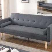 Paris Linen Sofa Bed Dark Grey