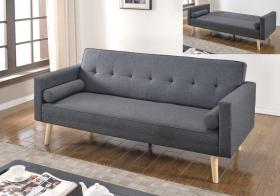 Paris Linen Sofa Bed Dark Grey