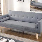Paris Linen Sofa Bed Light Grey