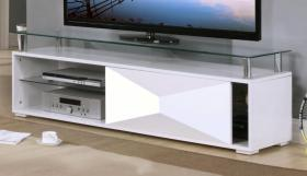 Rowley White High Gloss TV Cabinet