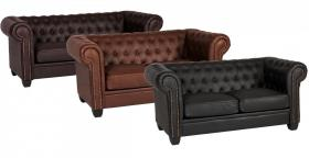 Winston 2 Seater Sofa Leather & PVC