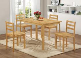 York Medium Dining Set with 4 Chairs Natural Oak