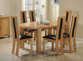 Zeus Oval Dining Table Oak