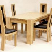 Zeus Rectangle Dining Table Oak