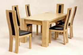Zeus Rectangle Dining Table Oak