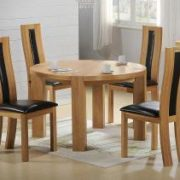 Zeus Round Dining Table Oak