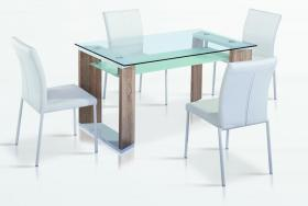 Zola Dining Table White & Natural