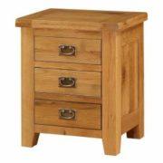 Acorn Solid Oak Bedside Table 3 Drawer