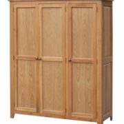 Acorn Solid Oak Wardrobe 3 Door Full Hanging