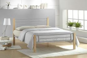 Amber Bed Double Silver-Beech