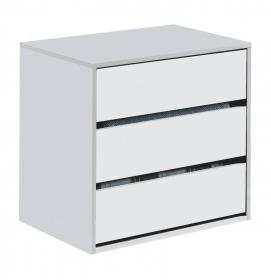 Arctic Drawer Unit 3 Drawer High Shine White