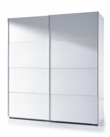 Arctic Sliding Wardrobe 6 Foot Full Hanging High Shine White