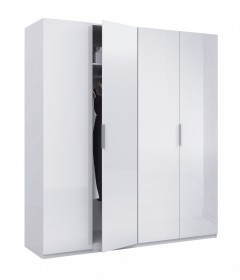 Arctic Wardrobe 4 Door High Shine White