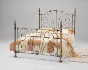 Beatrice Antique Brass King Size Bed