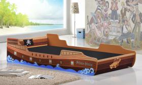 Caribbean Pirate Ship Bed Single