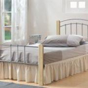Coral Single Bed Silver & Beech Colour