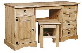 Corona Dressing Table Double 5 Draws& 1Door & Stool