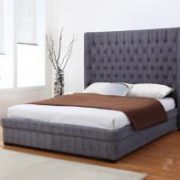 Genesis Linen 6 Foot Bed Dark Grey