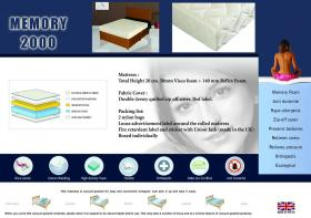 Memory 2000 Mattress 4 Foot
