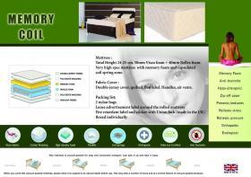 Memory Coil Mattress 4 Foot