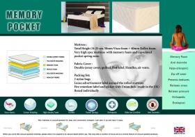 Memory Pocket Mattress 4 Foot