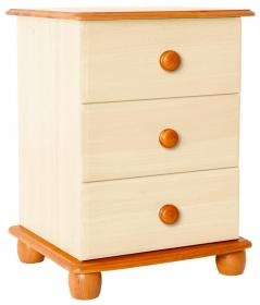 Skagen Cream Bedside 3 Drawer